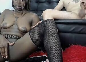 Latina sucking black cock