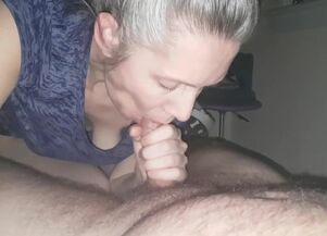 Hot mom blow job